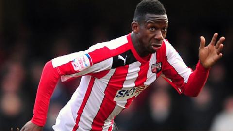 Brentford striker Bradley Wright-Phillips