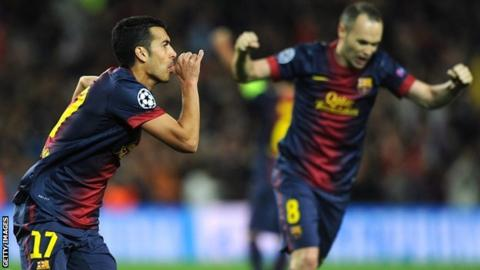 Pedro and Andres Iniesta
