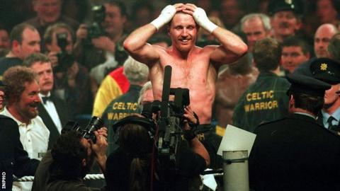 Steve Collins after his victory over Chris Eubank in 1995