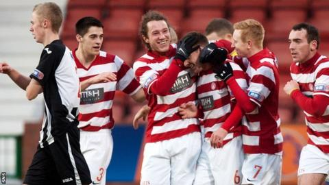 Accies beat the Pars 2-0
