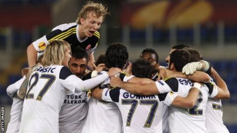 Fenerbahce celebrate aggregate win against Lazio
