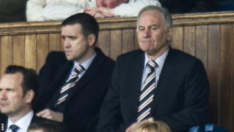 Charles Green (right) at Ibrox on Saturday