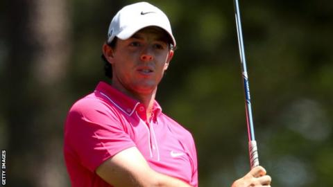 Rory McIlroy struggled badly on Saturday at August