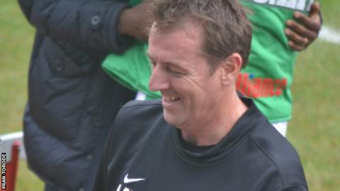 Matt Le Tissier made his Guernsey FC debut