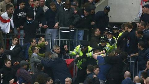 Millwall violence at Wembley