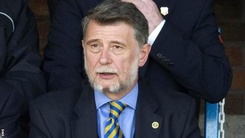 Cowdenbeath chairman Donald Findlay
