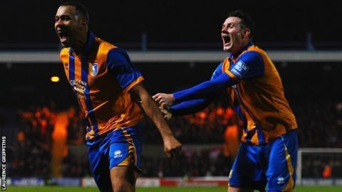 Mansfield striker Matt Green celebrates another goal