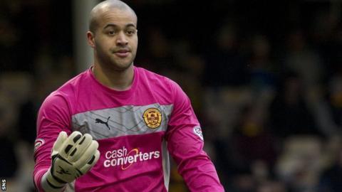 Motherwell goalkeeper Darren Randolph
