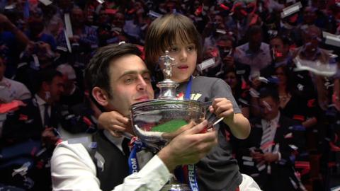 O'Sullivan with 2012 World Championship trophy
