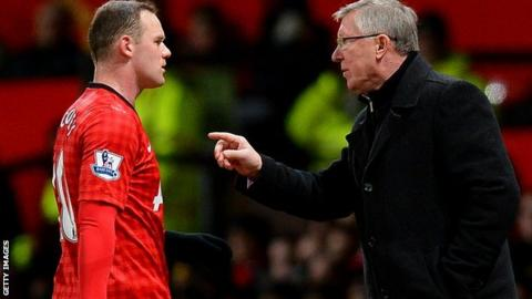 Wayne Rooney and Alex Ferguson