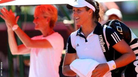 Judy Murray and Laura Robson