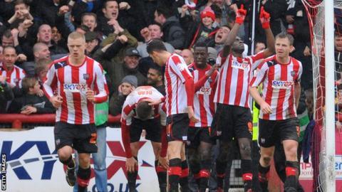 Brentford celebrate