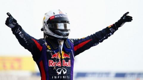 Red Bull's Sebastian Vettel wins the Bahrain Grand Prix