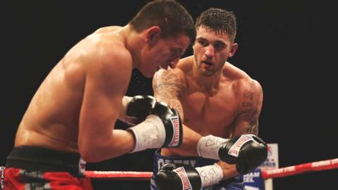 Nathan Cleverly makes a confident start in his fifth WBO light-heavyweight title defence against Robin Krasniqi