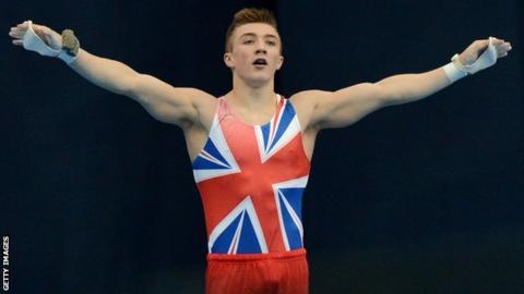 Great Britain gymnast Sam Oldham