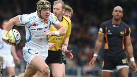 Jack Nowell scores for Exeter