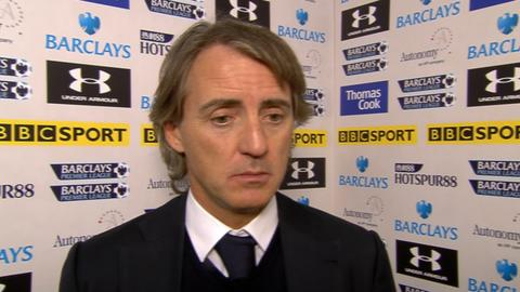 Mancini interview after loss to Tottenham