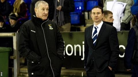 Inverness CT manager Terry Butcher and Ross County counterpart Derek Adams