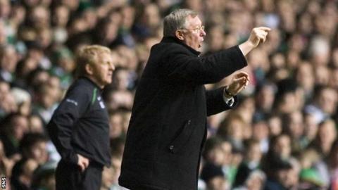 Gordon Strachan and Sir Alex Ferguson
