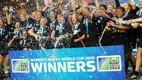 New Zealand celebrate their 2010 World Cup win