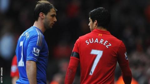 Branislav Ivanovic and Luis Suarez