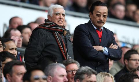 Former owner Sam Hamman was a guest of current owner Vincent Tan for Cardiff City's final home game of the season against Bolton Wanderers.