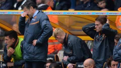 Wolves manager Dean Saunders