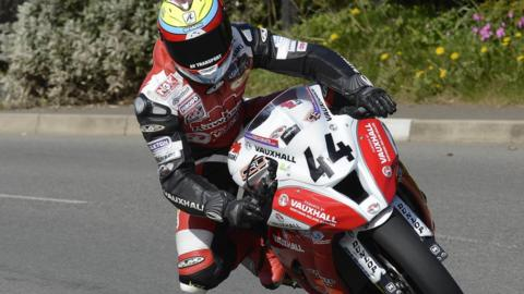 Jamie Hamilton won the Supertwins race for the KMR Kawasaki team
