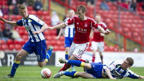 Niall McGinn won the match for Aberdeen
