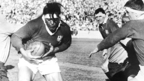 1966: British Lions captain Mike Campbell-Lamerton (1934-2005) in action during the first Test match against Australia in Sydney, which the Lions won 11-8