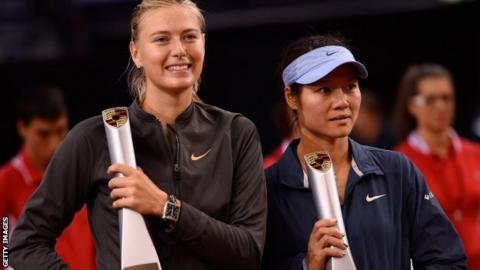 Maria Sharapova and Li Na
