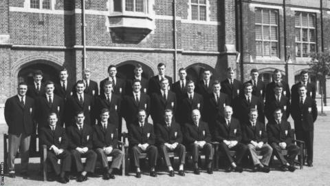 The British Lions rugby team before their summer tour of Australia and New Zealand, May 1959. Back row, left to right: Bev Risman, J.R. Young, Ken Scotland, A. Ashcroft, N.H. Brophy, S. Coughtrie, Peter Jackson, Wood, T.E. Davis, M.J. Price, John Faull, M.A.F. English. Centre row, left to right: R. Prosser, W.A. Mulcahy, K. Smith, Tony O'Reilly, W.R. Evans, R.W. Marques, N.A. Murphy, David Hewitt, Syd Millar, G.H. Waddell and H.J. Morgan. Front row, left to right: Dickie Jeeps, Malcolm Thomas, Jeff Butterfield, Ronnie Dawson, Rhys Williams, Hugh McLeod and Bryn Meredith. (Photo by Central Press/Hulton Archive/Getty Images)