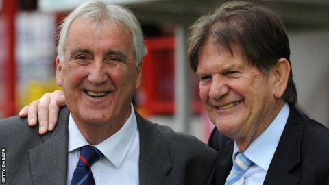 Vic Marley (l) with John Madejski