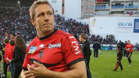 Former England fly-half and current Toulon number 10 Jonny Wilkinson