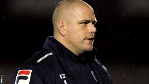 Morecambe manager Jim Bentley
