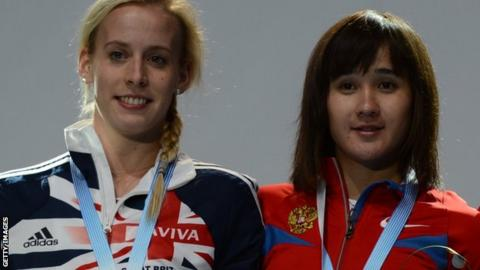 Lynsey Sharp and Yelena Arzhakova