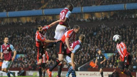 Christian Benteke . . . he outjumps the bar