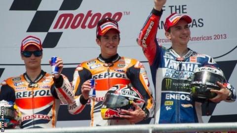 Dani Pedrosa, Marc Marquez & Jorge Lorenzo