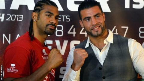 David Haye with Manuel Charr