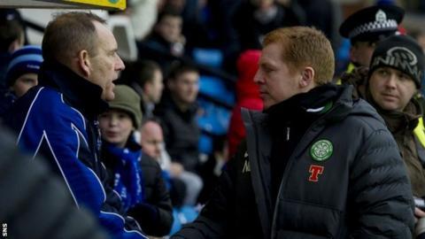 Kenny Shiels and Celtic's Neil Lennon