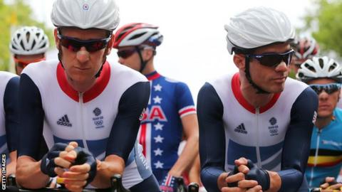 Bradley Wiggins and David Millar