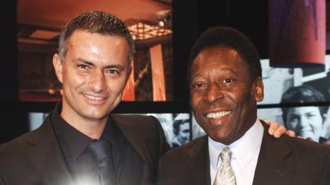 Jose Mourinho and Pele