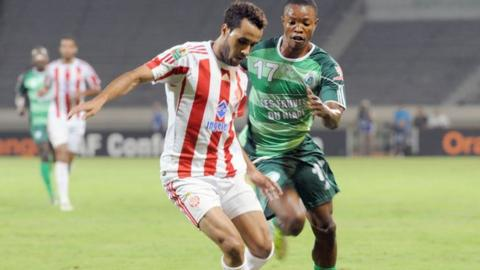 Wydad Casablanca and AC Leopards in Confederation Cup action