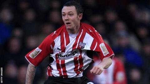 Rhys Murphy during his spell at Brentford