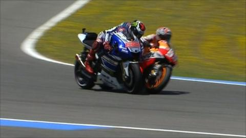 Jorge Lorenzo clashes with Marc Marquez