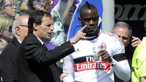 Massimiliano Allegri and Mario Balotelli