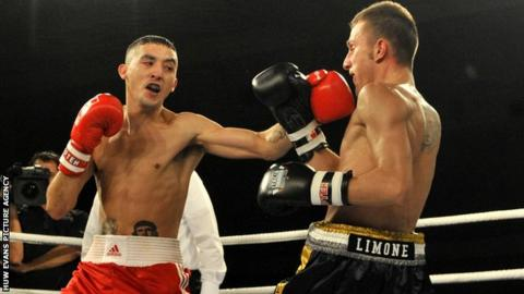 Andrew Selby (left) in action for British Lionhearts