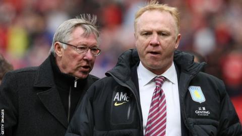 Alex McLeish (right) with long-term mentor Sir Alex Ferguson