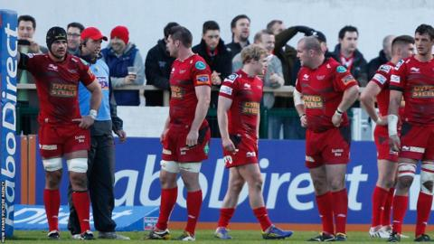 The Scarlets are dejected