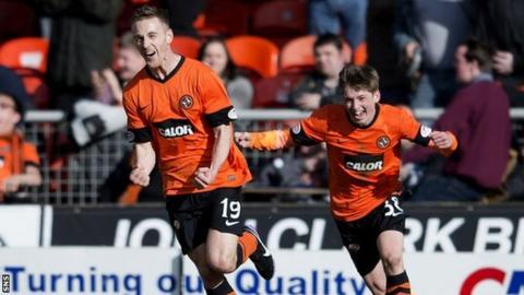 Rory Boulding celebrates